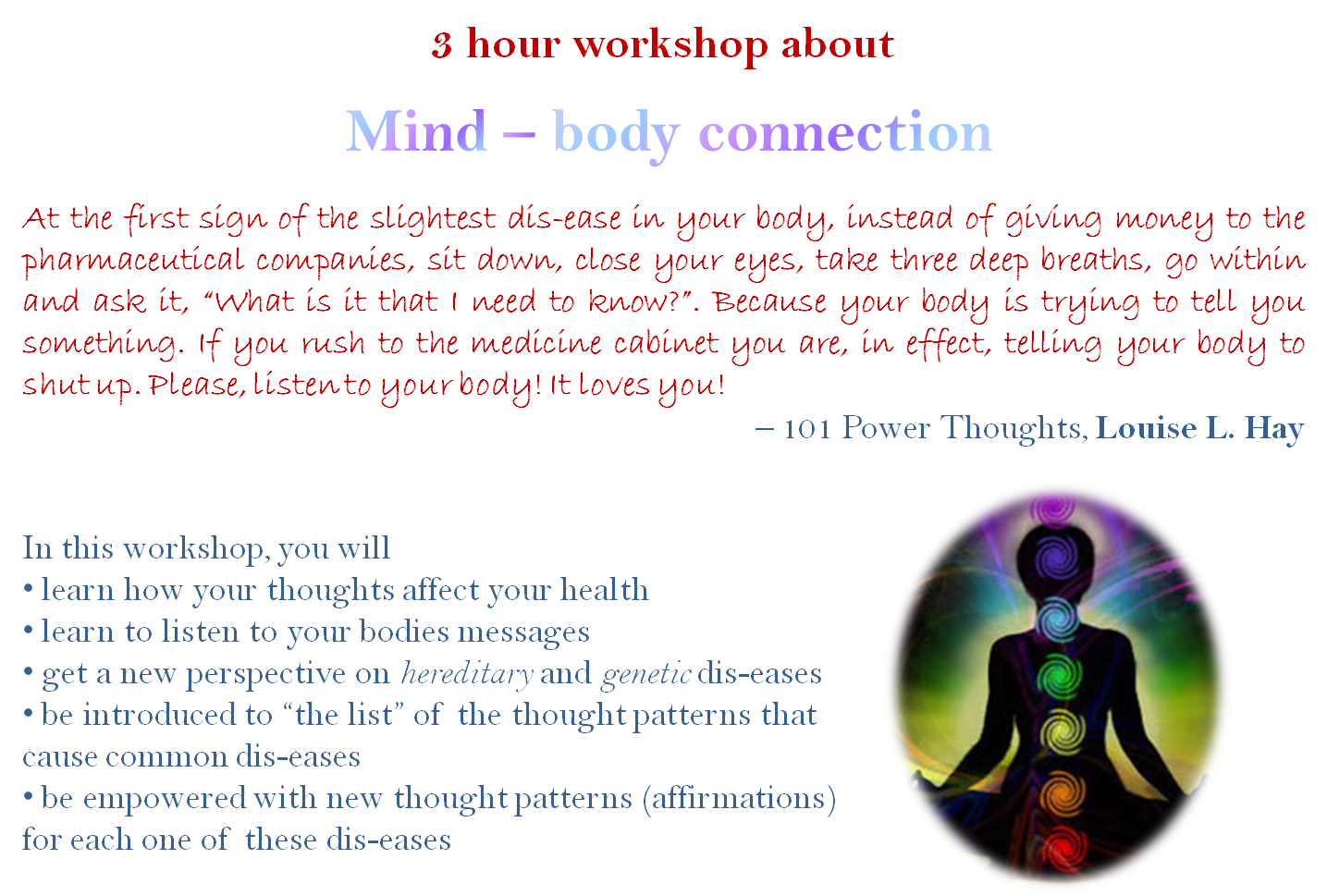 from the mind to the body Mind–body dualism, or mind–body duality, is a view in the philosophy of mind that mental phenomena are, in some respects, non-physical, or that the mind and body are distinct and separable.